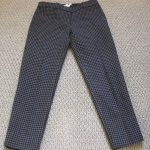J. Crew Wool Herringbone Cropped Pants Sz 00 Lined